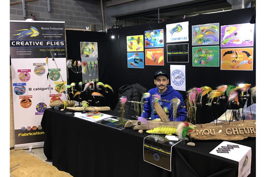 creative flies on the stand of 22nd fly fishing show of charleroi, Fly Fishing Bait